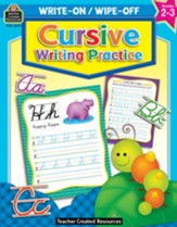 Write On/Wipe Off: Cursive Writing  Practice