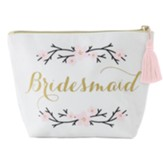 Bridesmaid Zipper Pouch, Cream