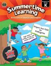 Summertime Learning: English and  Spanish Edition (Preparing for Grade K)