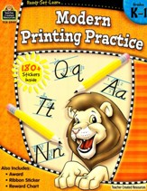 Ready Set Learn: Modern Printing  Practice (Grades K and 1)