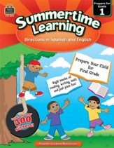 Summertime Learning: English and  Spanish Edition (Preparing for Grade 1)