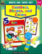Write On/Wipe Off: Numbers, Shapes,  and Colors