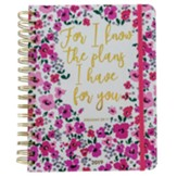 For I Know the Plans Spiral Bound Life Planner, Floral