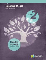 Answers Bible Curriculum Middle School Unit 2 Teacher Guide (2nd Edition)