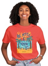 Be Still Beach Shirt, Coral, 3X-Large