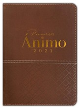 Agenda 2021: Promesas de animo, marron  (2021 Promises of Courage Planner, Brown)