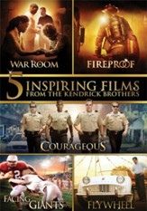 5 Inspiring Films From The Kendrick Brothers: War Room, Fireproof, Courageous, Facing the Giants, and Flywheel DVD