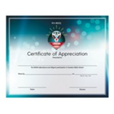 A New Song: Certificates of Appreciation, pack of 6