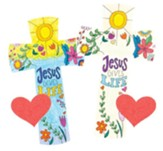 God's Wonder Lab: Cross with Seedling Heart Craft, pack of 12