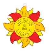 God's Wonder Lab: Jesus is the Light Suncatcher Craft, pack of 12
