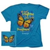 Transformed Butterfly Shirt, Blue, Large