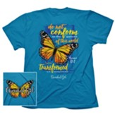 Transformed Butterfly Shirt, Blue, Medium
