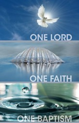 One Lord One Faith One Baptism Dove, Water, Shell Bulletins, 100