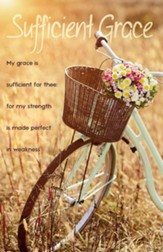 My Grace is Sufficient for Thee Bicycle Flower Basket Bulletins, 100 (2 Corinthians 12:9, KJV)