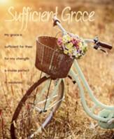 My Grace is Sufficient for Thee Bicycle Flower Basket, Large Bulletins, 100 (2 Corinthians 12:9, KJV)