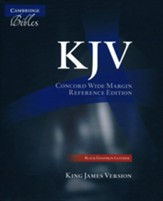 KJV Concord Wide-Margin Reference Black Goatskin Leather