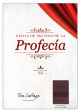 Biblia de estudio de la profecía RVR 1960, piel imit. maron con indice (The Prophecy Study Bible, Brown with Index)