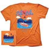 Life On The Lake Shirt, Orange, X-Large