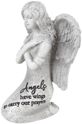 Angels Have Wings To Carry Our Prayers Angel Figurine