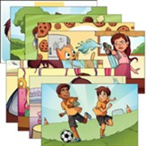 Answers Bible Curriculum PreK-1 Unit 4 Justin & Jessie Story Posters (2nd Edition)