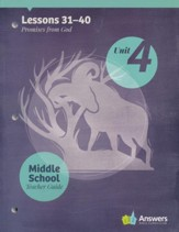 Answers Bible Curriculum Middle School Unit 4 Teacher  Guide (2nd Edition)
