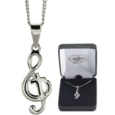 G Clef, Cross, Necklace