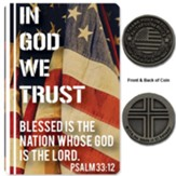 In God We Trust Pocket Coin with Prayer Card