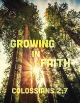 God's Word in Time Scripture  Planner: Growing in Faith  Colossians 2:7 Secondary Teacher Edition (NAB Version;  August 2021 - July 2022)