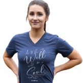 It Is Well Script Shirt, Navy, 3X-Large