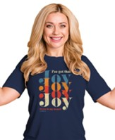 Joy Joy Joy Shirt, Navy, Medium