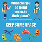 Keep Some Space Floor Stickers 5Pk
