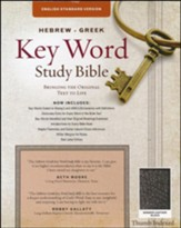 ESV-Hebrew-Greek Key Word Study Bible, bonded leather, black-index - Slightly Imperfect
