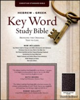 CSB Hebrew-Greek Key Word Study Bible, genuine leather, black-indexed