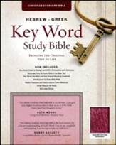 CSB Hebrew-Greek Key Word Study Bible, genuine leather, burgundy