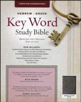 CSB Hebrew-Greek Key Word Study Bible, bonded, leather, black