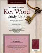 CSB Hebrew-Greek Key Word Study Bible, bonded leather, burgundy