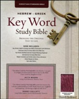 CSB Hebrew-Greek Key Word Study Bible, bonded leather, burgundy-indexed