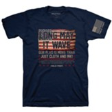 Long May It Wave Shirt, Navy, Large