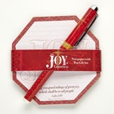 The Joy of Christmas Notepad and Pen Set