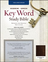 KJV Hebrew-Greek Key Word Study Bible--genuine goat leather, brown