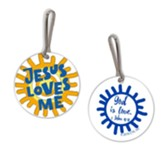 Jesus Loves Me Backpack Tag