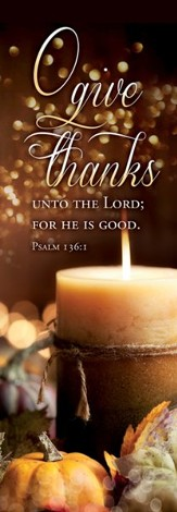 O Give Thanks (Psalm 136:1, KJV) Fabric Banner 2' x 6'