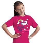 Dream Big Shirt, Pink, Youth Small