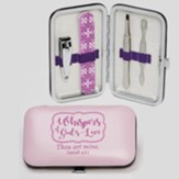 Whispers of God's Love Manicure Set, KJV