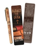 Against the Grain Bookmark and Pen Set