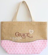 Grace Purse-Style Jute Tote Bag