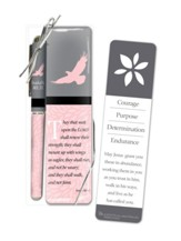Courage Purpose Determination Endurance Bookmark and Pen Gift Set