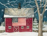 Patriotic Holiday Christmas Cards, Box of 18