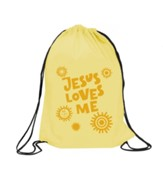 Jesus Loves Me Drawstring Backpack