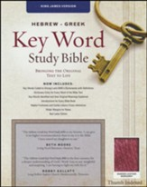 KJV Hebrew-Greek Key Word Study Bible, bonded leather, burgundy-indexed